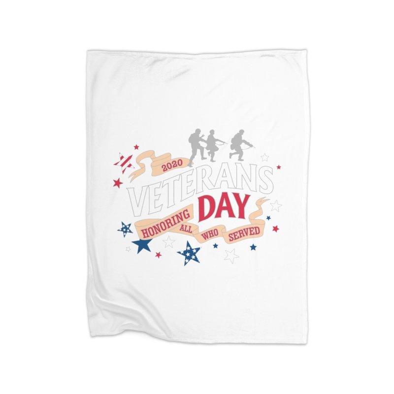 Veterans Day Home Fleece Blanket Blanket by Moon Joggers's Artist Shop