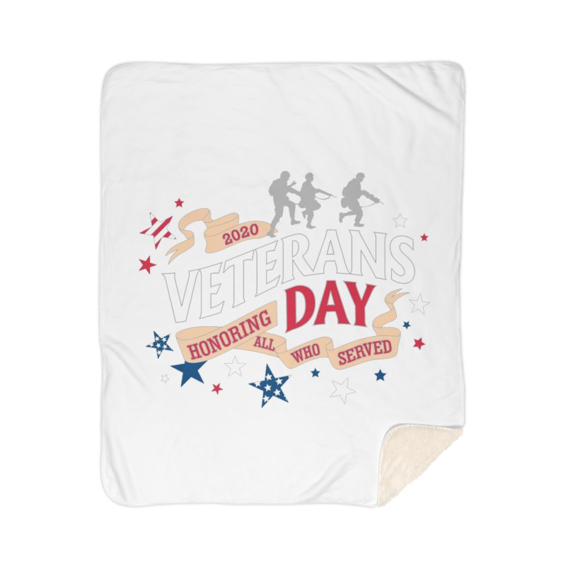 Veterans Day Home Sherpa Blanket Blanket by Moon Joggers's Artist Shop