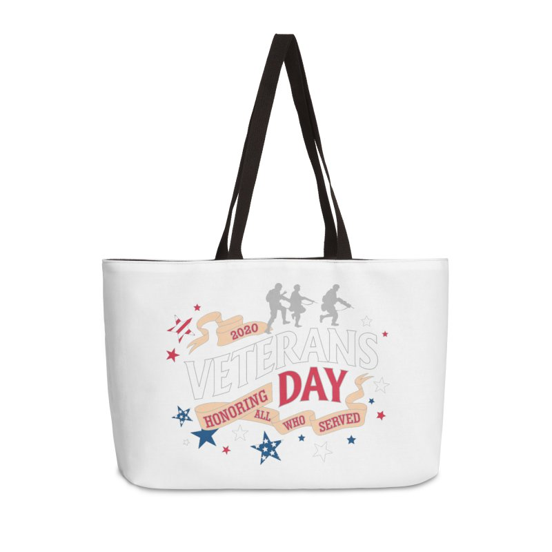 Veterans Day Accessories Weekender Bag Bag by Moon Joggers's Artist Shop
