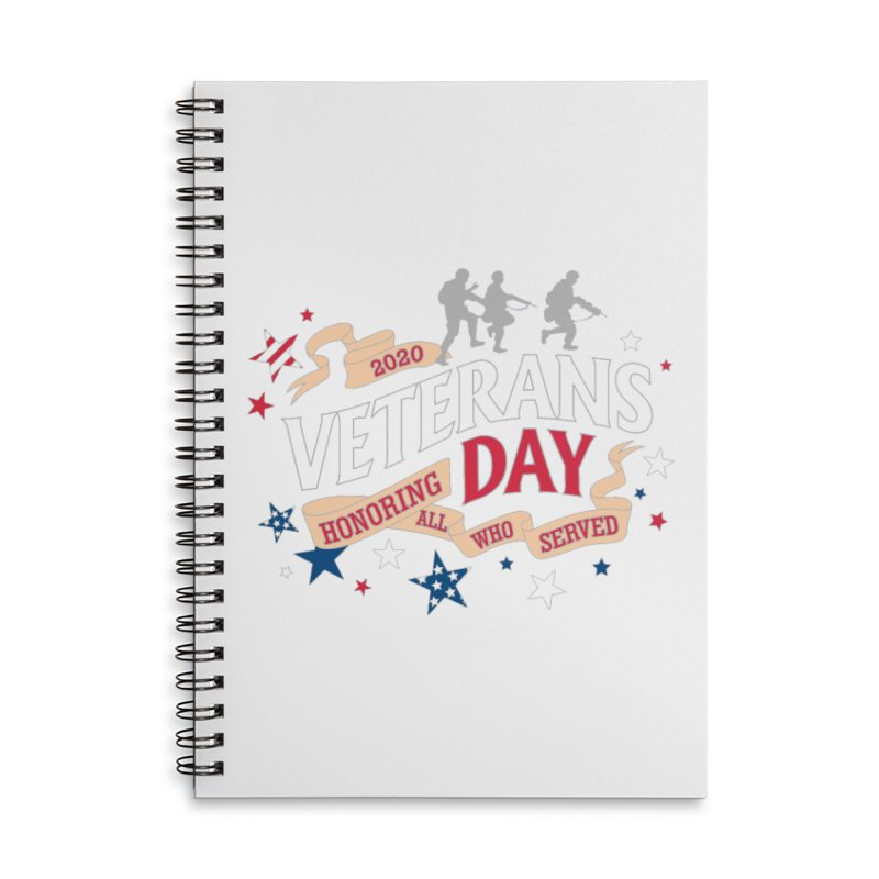 Veterans Day Accessories Lined Spiral Notebook by Moon Joggers's Artist Shop