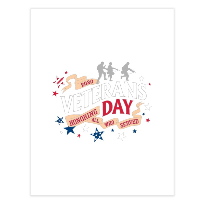 Veterans Day Home Fine Art Print by Moon Joggers's Artist Shop