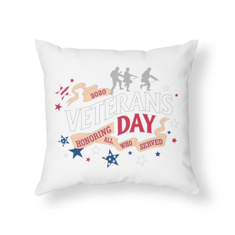 Veterans Day Home Throw Pillow by Moon Joggers's Artist Shop
