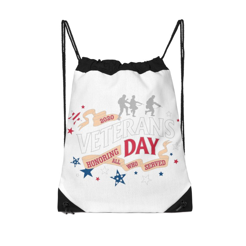 Veterans Day Accessories Drawstring Bag Bag by Moon Joggers's Artist Shop