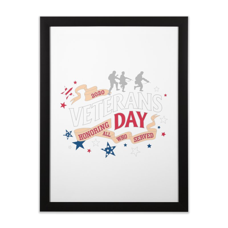 Veterans Day Home Framed Fine Art Print by Moon Joggers's Artist Shop