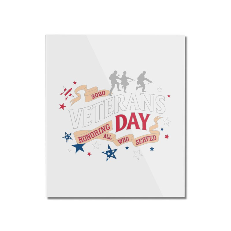 Veterans Day Home Mounted Acrylic Print by Moon Joggers's Artist Shop