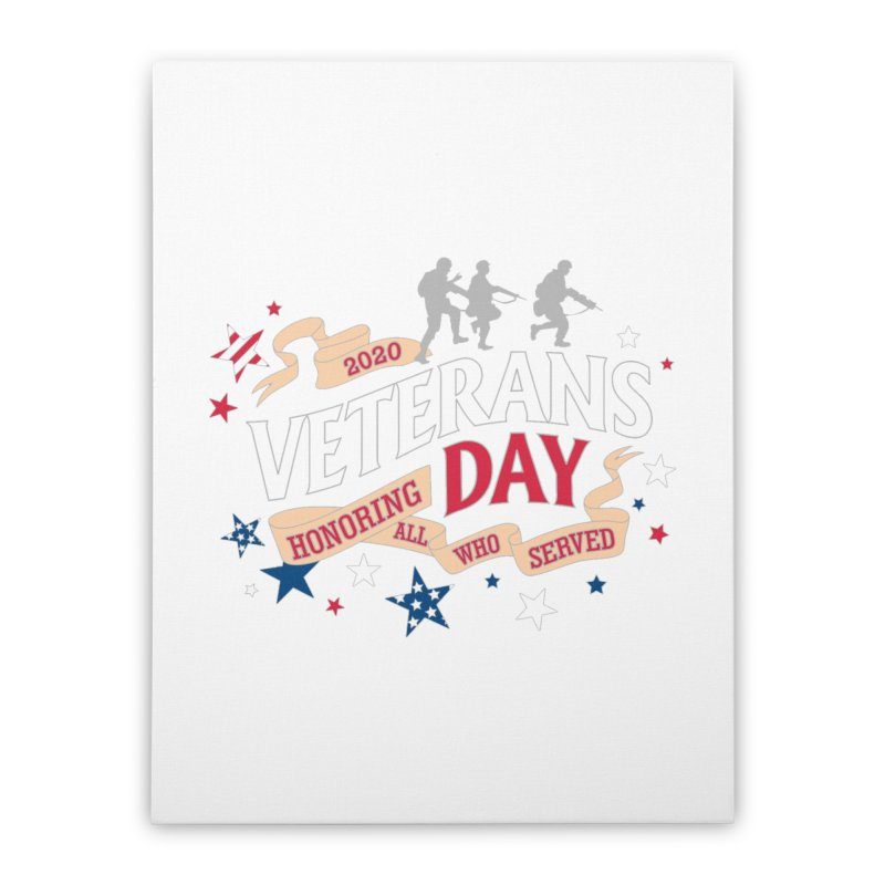 Veterans Day Home Stretched Canvas by Moon Joggers's Artist Shop