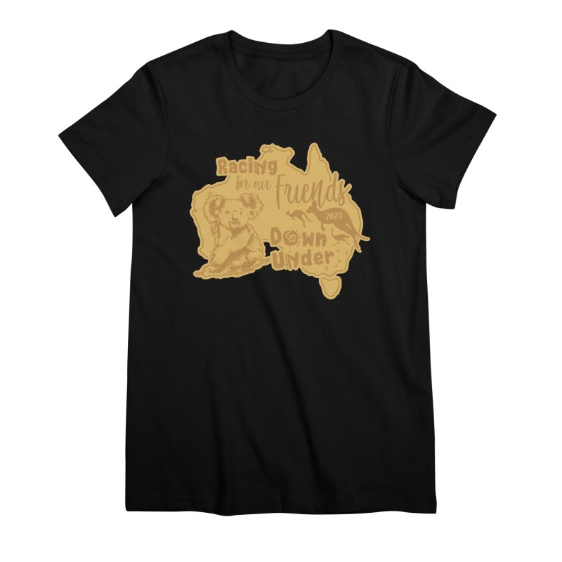 Racing for our Friends Down Under Women's Premium T-Shirt by Moon Joggers's Artist Shop