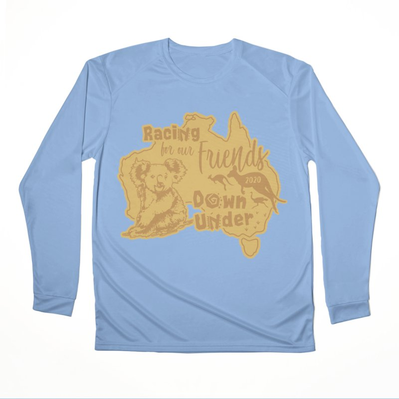 Racing for our Friends Down Under Men's Performance Longsleeve T-Shirt by Moon Joggers's Artist Shop
