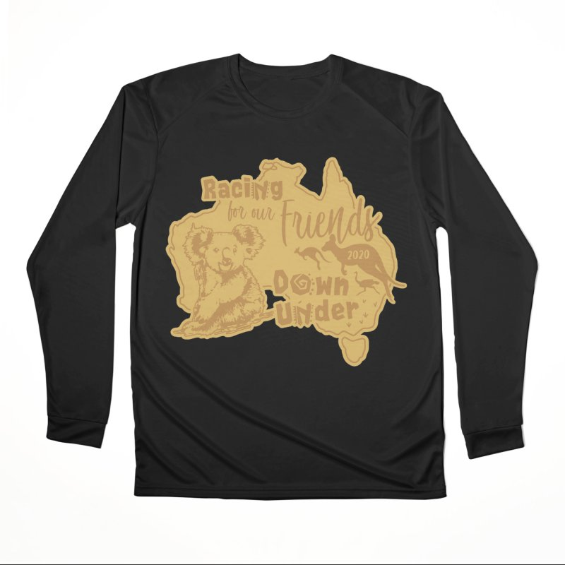 Racing for our Friends Down Under Women's Performance Unisex Longsleeve T-Shirt by Moon Joggers's Artist Shop