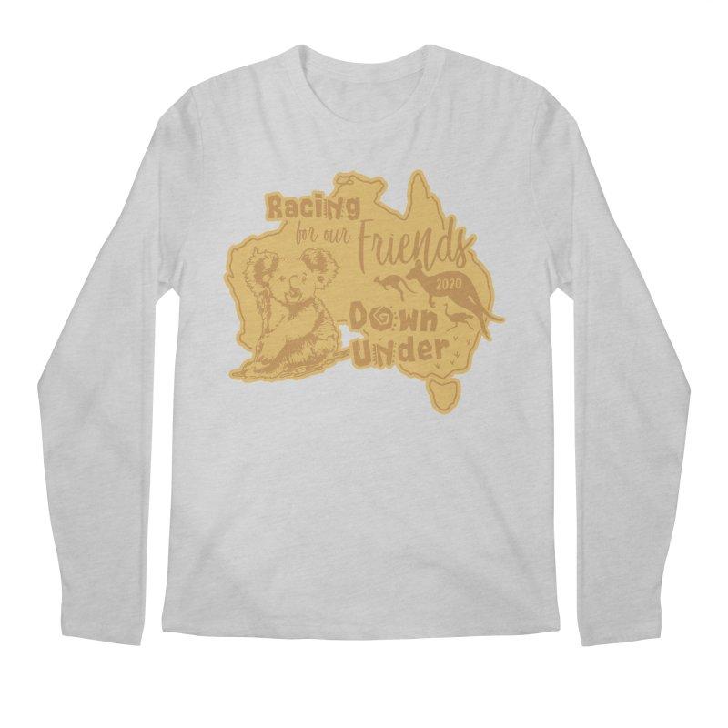 Racing for our Friends Down Under Men's Regular Longsleeve T-Shirt by Moon Joggers's Artist Shop