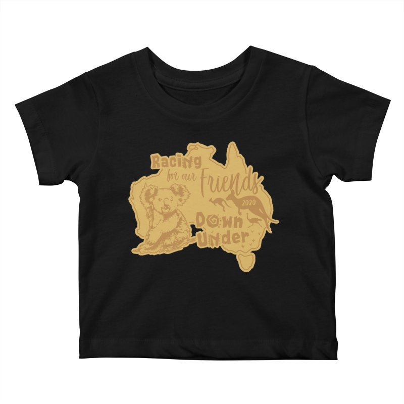 Racing for our Friends Down Under Kids Baby T-Shirt by Moon Joggers's Artist Shop