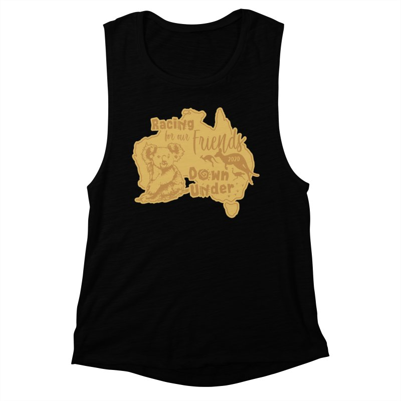 Racing for our Friends Down Under Women's Muscle Tank by Moon Joggers's Artist Shop