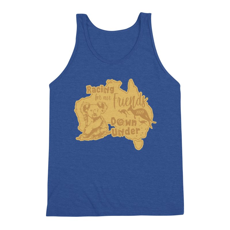 Racing for our Friends Down Under Men's Triblend Tank by Moon Joggers's Artist Shop