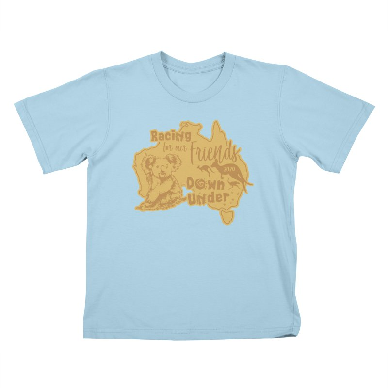 Racing for our Friends Down Under Kids T-Shirt by Moon Joggers's Artist Shop
