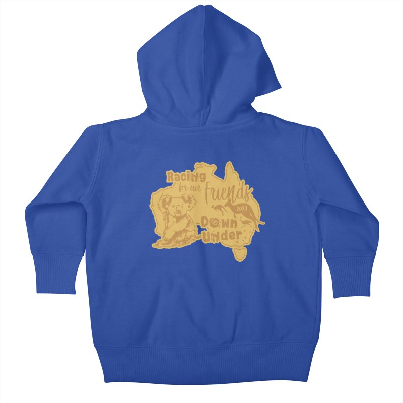 Racing for our Friends Down Under Kids Baby Zip-Up Hoody by Moon Joggers's Artist Shop