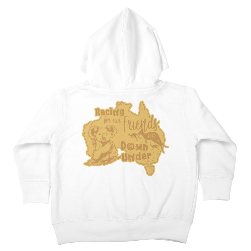 Racing for our Friends Down Under Kids Toddler Zip-Up Hoody by Moon Joggers's Artist Shop