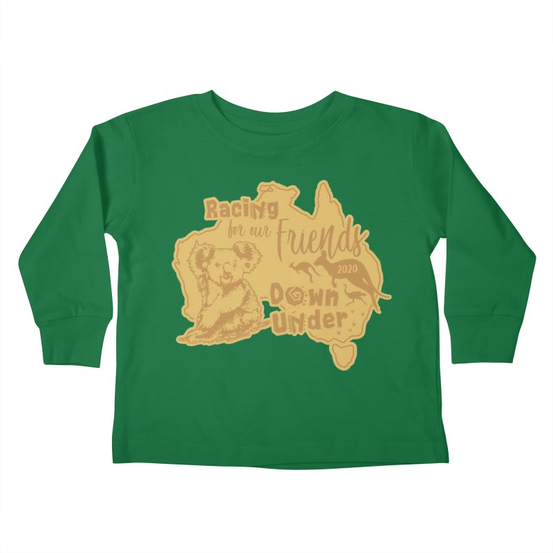 Racing for our Friends Down Under Kids Toddler Longsleeve T-Shirt by Moon Joggers's Artist Shop