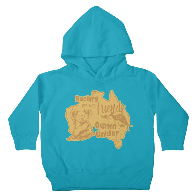 Racing for our Friends Down Under Kids Toddler Pullover Hoody by Moon Joggers's Artist Shop