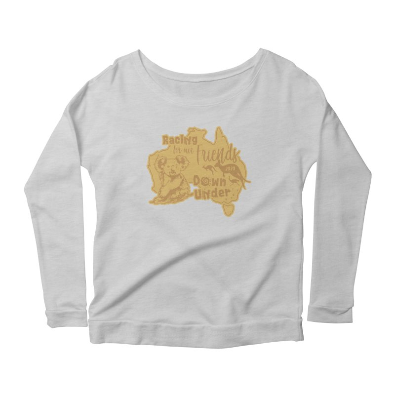 Racing for our Friends Down Under Women's Scoop Neck Longsleeve T-Shirt by Moon Joggers's Artist Shop