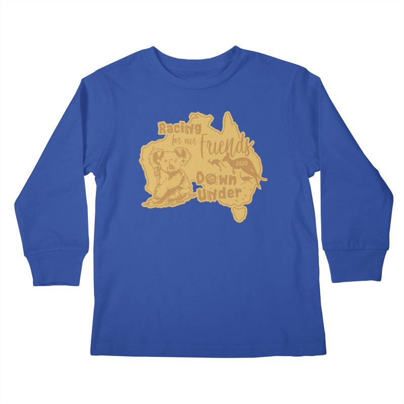 Racing for our Friends Down Under Kids Longsleeve T-Shirt by Moon Joggers's Artist Shop