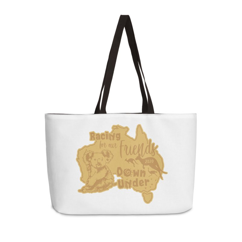 Racing for our Friends Down Under Accessories Weekender Bag Bag by Moon Joggers's Artist Shop