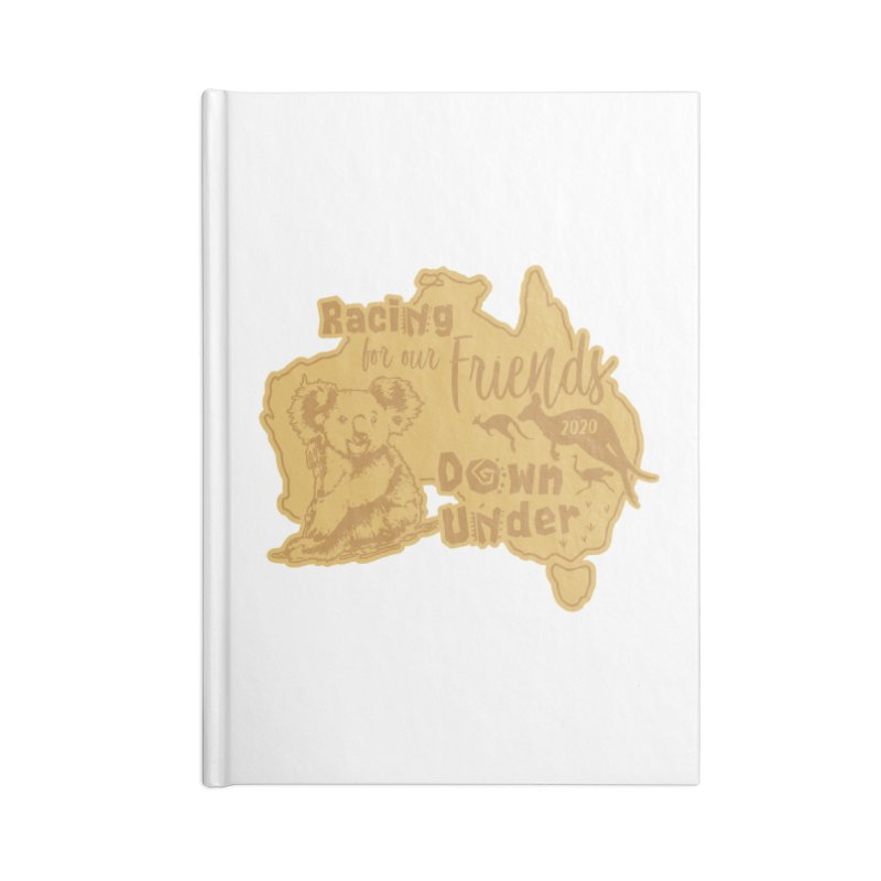 Racing for our Friends Down Under Accessories Blank Journal Notebook by Moon Joggers's Artist Shop