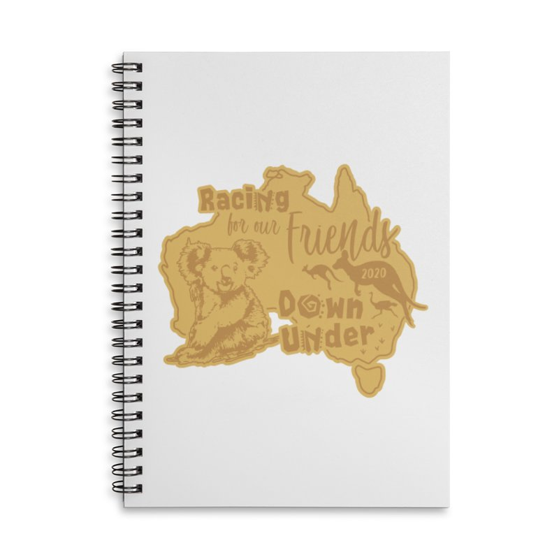Racing for our Friends Down Under Accessories Lined Spiral Notebook by Moon Joggers's Artist Shop
