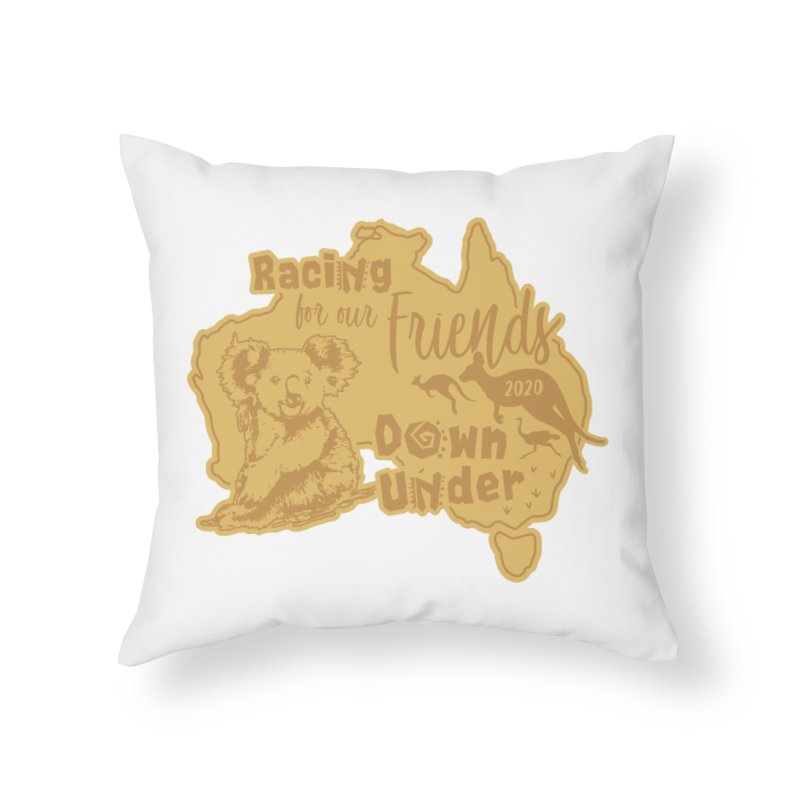 Racing for our Friends Down Under Home Throw Pillow by Moon Joggers's Artist Shop
