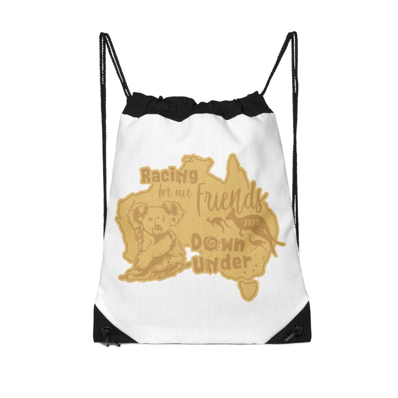 Racing for our Friends Down Under Accessories Drawstring Bag Bag by Moon Joggers's Artist Shop