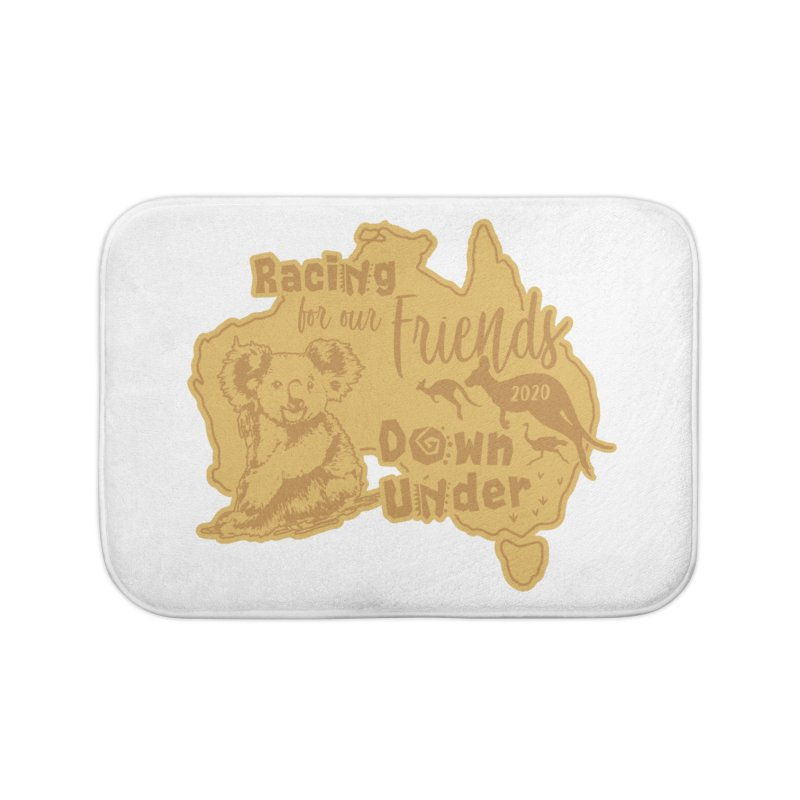 Racing for our Friends Down Under Home Bath Mat by Moon Joggers's Artist Shop
