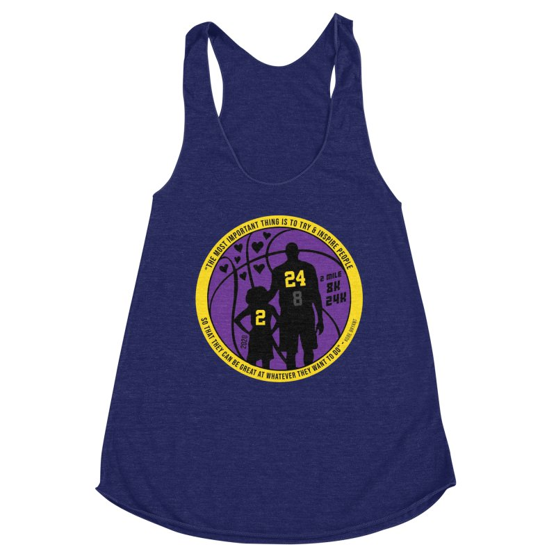 Race For The Greatest Women's Racerback Triblend Tank by Moon Joggers's Artist Shop