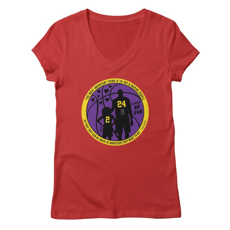 Race For The Greatest Women's Regular V-Neck by Moon Joggers's Artist Shop