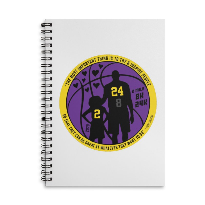 Race For The Greatest Accessories Lined Spiral Notebook by Moon Joggers's Artist Shop