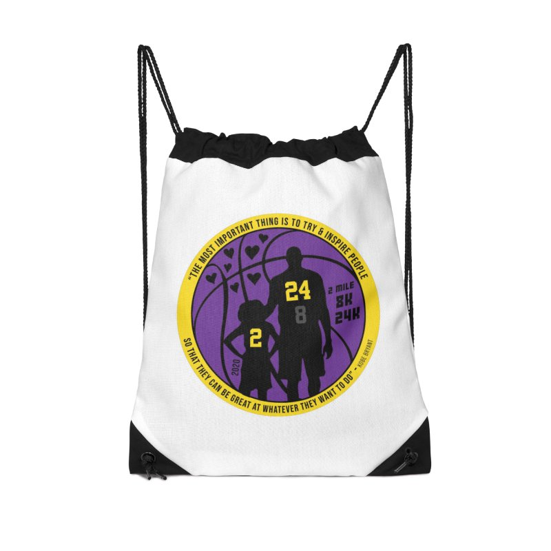 Race For The Greatest Accessories Drawstring Bag Bag by Moon Joggers's Artist Shop