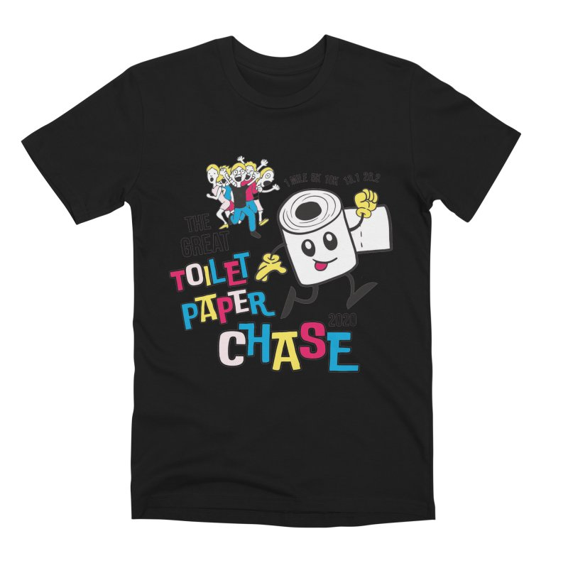The Great Toilet Paper Chase of 2020 Men's Premium T-Shirt by Moon Joggers's Artist Shop