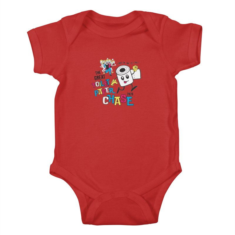 The Great Toilet Paper Chase of 2020 Kids Baby Bodysuit by Moon Joggers's Artist Shop