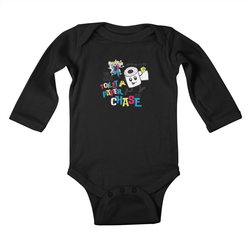 The Great Toilet Paper Chase of 2020 Kids Baby Longsleeve Bodysuit by Moon Joggers's Artist Shop