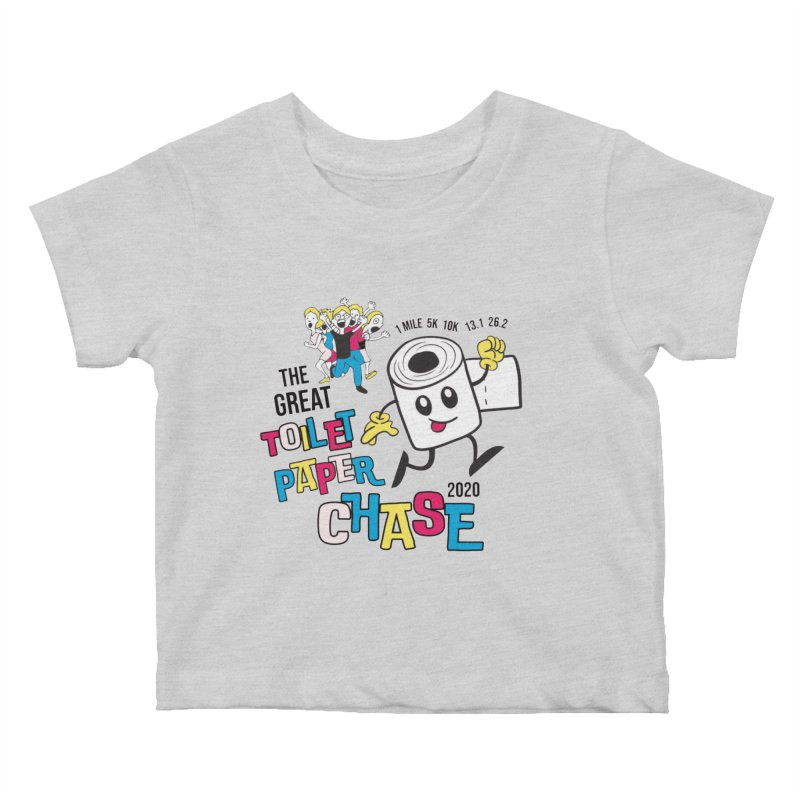 The Great Toilet Paper Chase of 2020 Kids Baby T-Shirt by Moon Joggers's Artist Shop