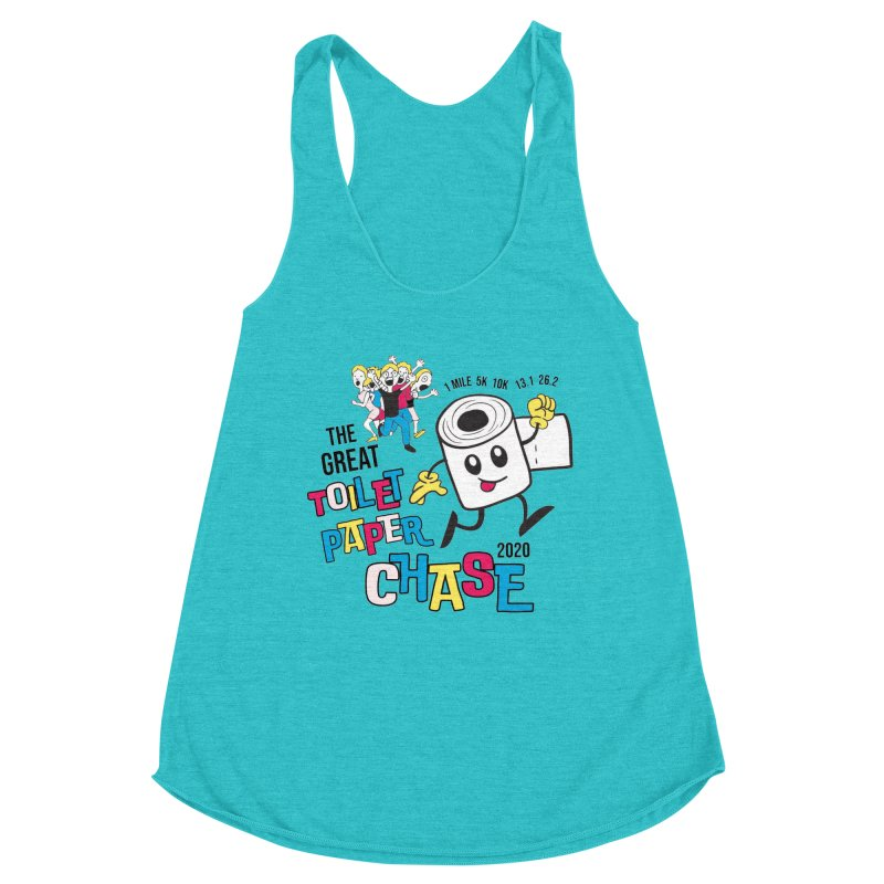 The Great Toilet Paper Chase of 2020 Women's Racerback Triblend Tank by Moon Joggers's Artist Shop