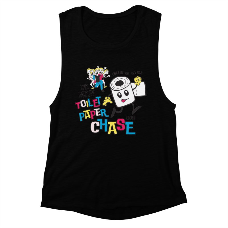 The Great Toilet Paper Chase of 2020 Women's Muscle Tank by Moon Joggers's Artist Shop