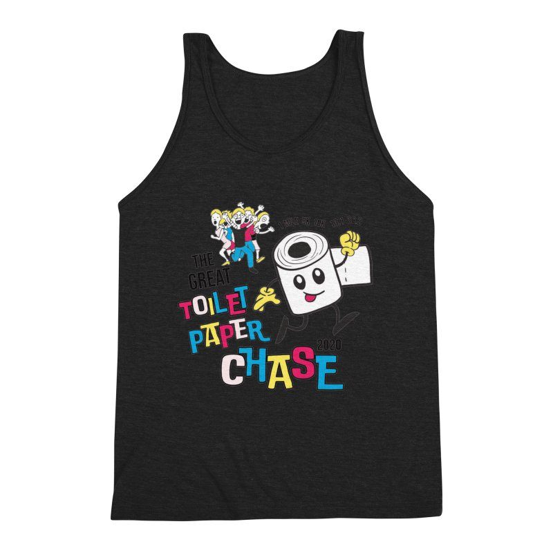 The Great Toilet Paper Chase of 2020 Men's Triblend Tank by Moon Joggers's Artist Shop