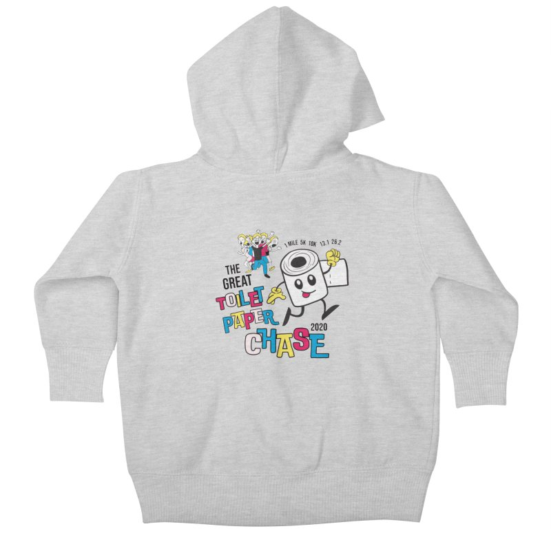 The Great Toilet Paper Chase of 2020 Kids Baby Zip-Up Hoody by Moon Joggers's Artist Shop