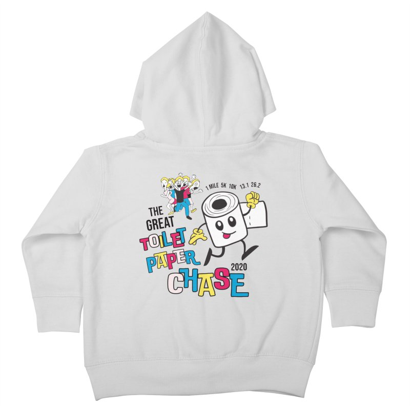 The Great Toilet Paper Chase of 2020 Kids Toddler Zip-Up Hoody by Moon Joggers's Artist Shop
