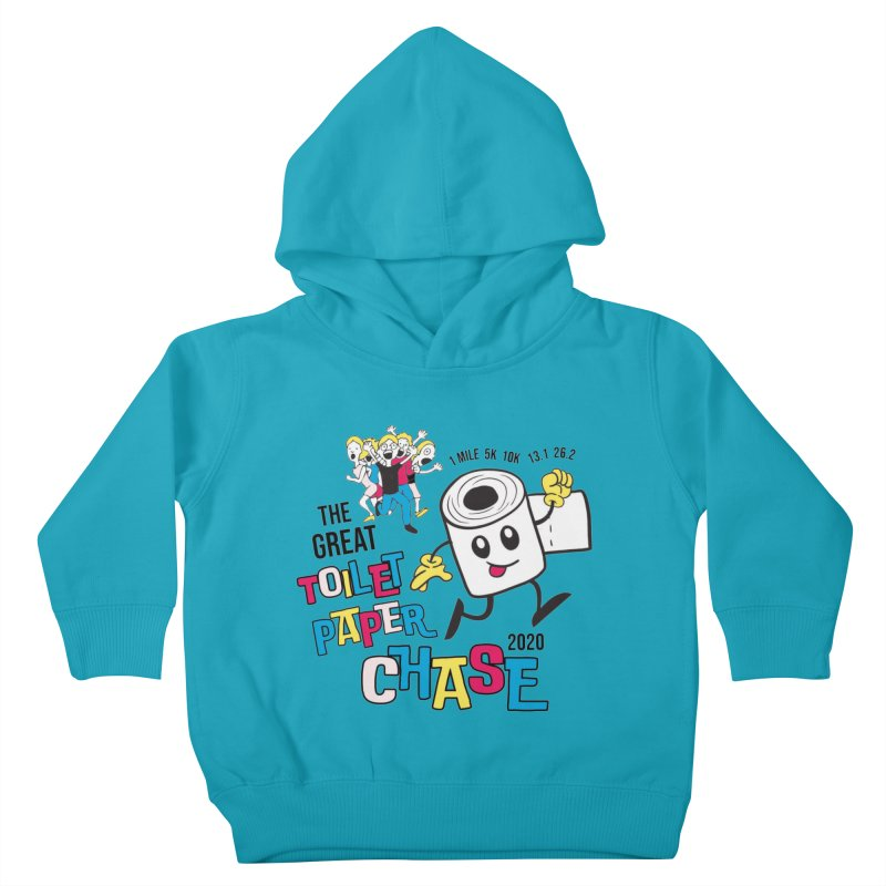 The Great Toilet Paper Chase of 2020 Kids Toddler Pullover Hoody by Moon Joggers's Artist Shop