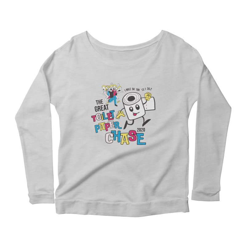 The Great Toilet Paper Chase of 2020 Women's Scoop Neck Longsleeve T-Shirt by Moon Joggers's Artist Shop