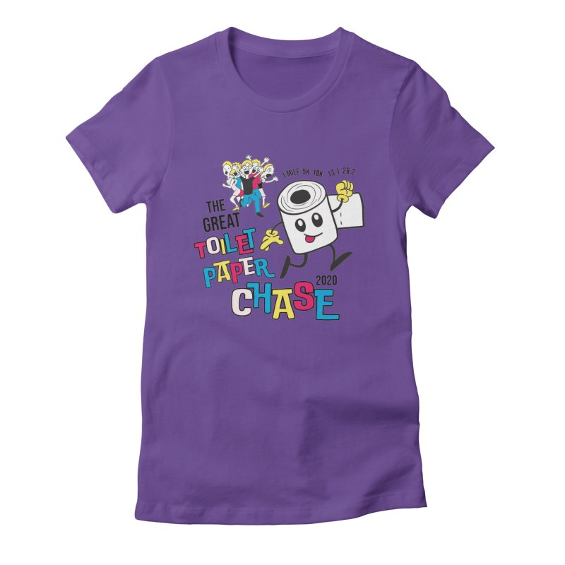 The Great Toilet Paper Chase of 2020 Women's Fitted T-Shirt by Moon Joggers's Artist Shop