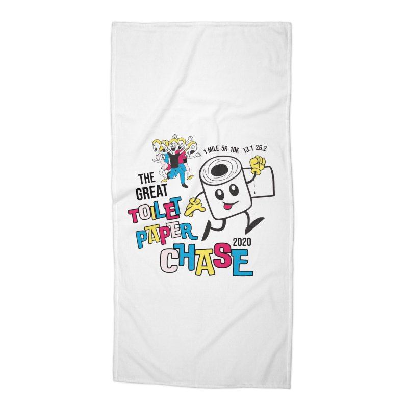 The Great Toilet Paper Chase of 2020 Accessories Beach Towel by Moon Joggers's Artist Shop