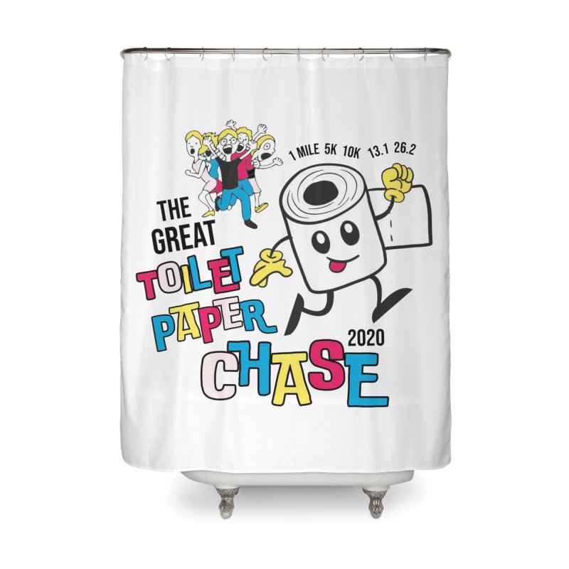 The Great Toilet Paper Chase of 2020 Home Shower Curtain by Moon Joggers's Artist Shop