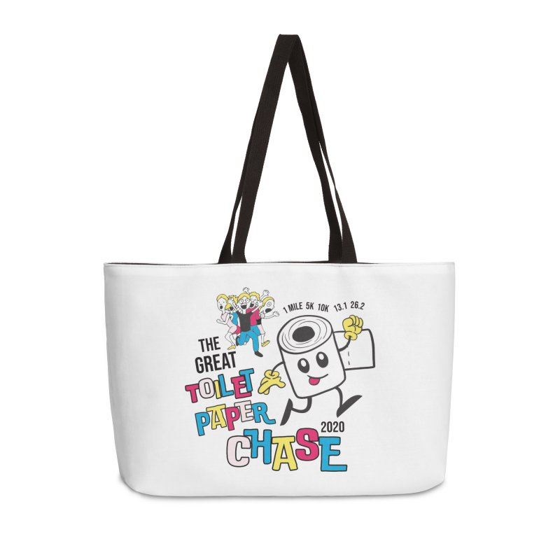 The Great Toilet Paper Chase of 2020 Accessories Weekender Bag Bag by Moon Joggers's Artist Shop