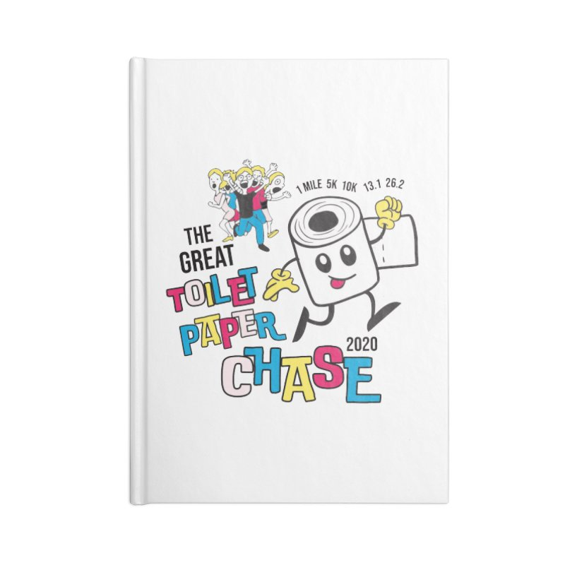 The Great Toilet Paper Chase of 2020 Accessories Blank Journal Notebook by Moon Joggers's Artist Shop